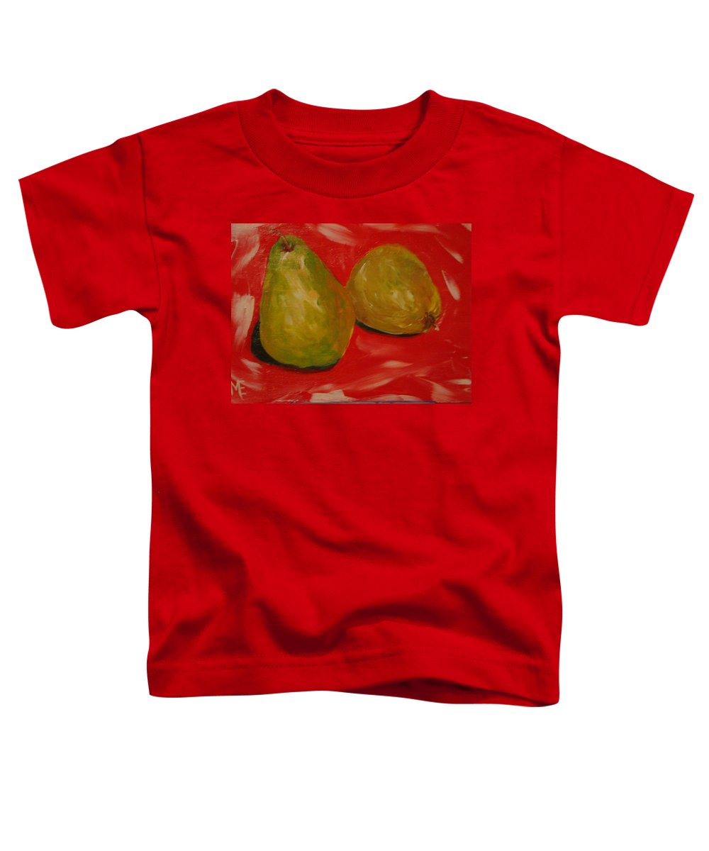 Pears Toddler T-Shirt featuring the painting Pair Of Pears by Melinda Etzold