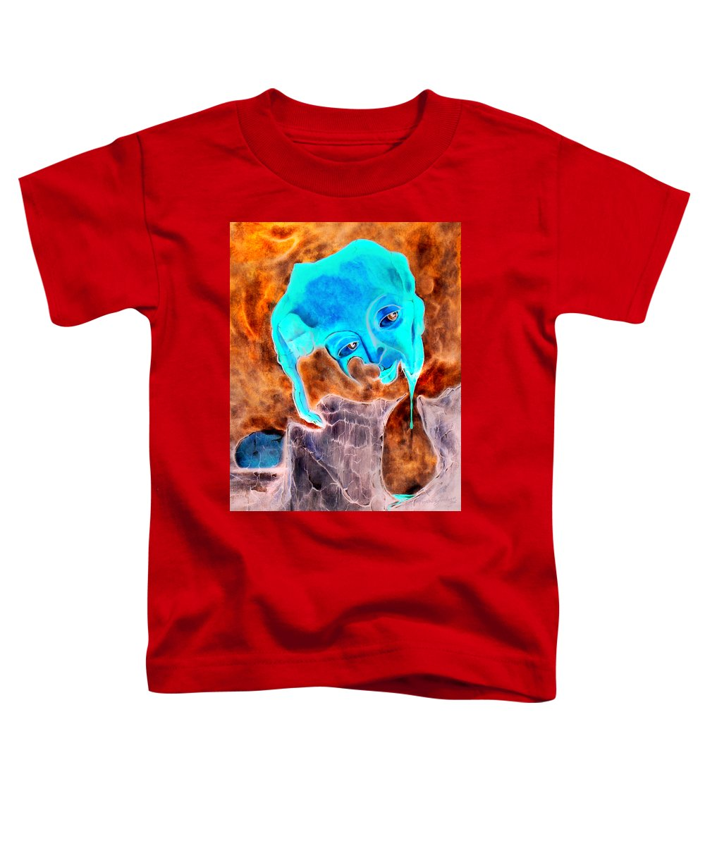 Red Blood Surrealism Color Toddler T-Shirt featuring the painting Paris H by Veronica Jackson