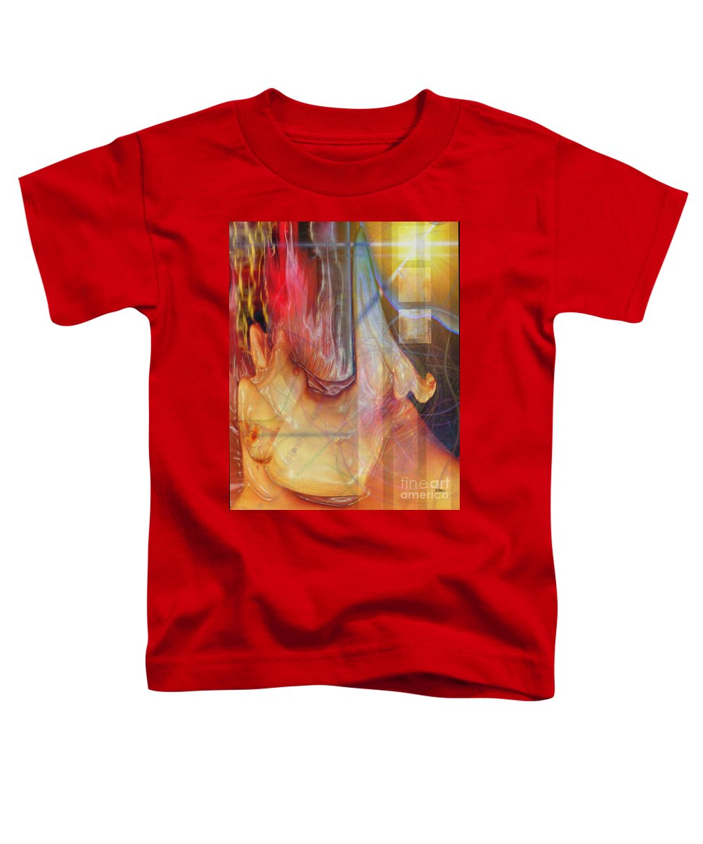 Passion Play Toddler T-Shirt featuring the digital art Passion Play by John Beck
