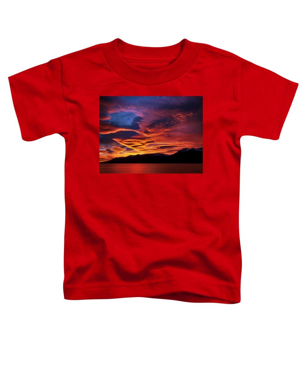 Patagonia Toddler T-Shirt featuring the photograph Patagonian Sunrise by Joe Bonita