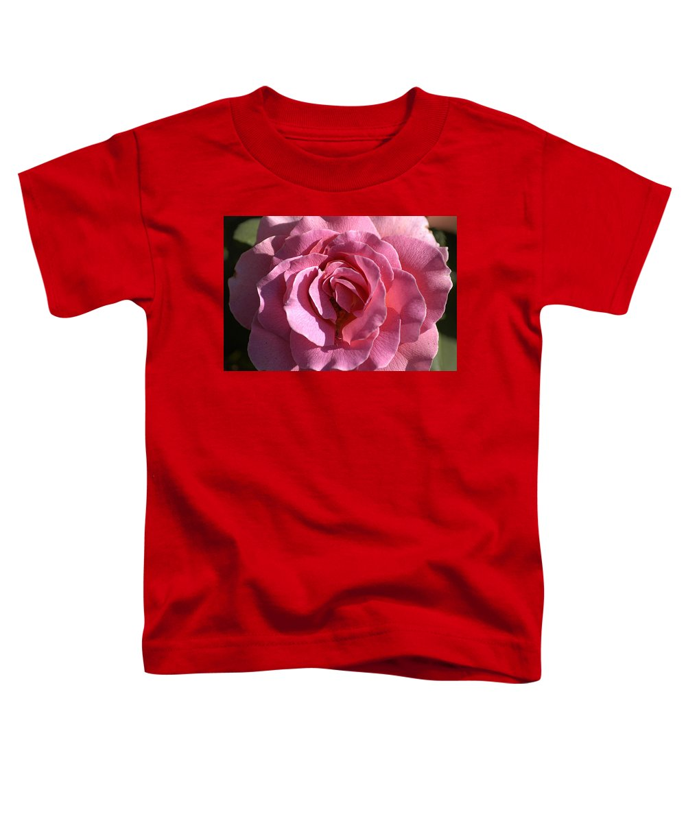 Clay Toddler T-Shirt featuring the photograph Pink Rose by Clayton Bruster