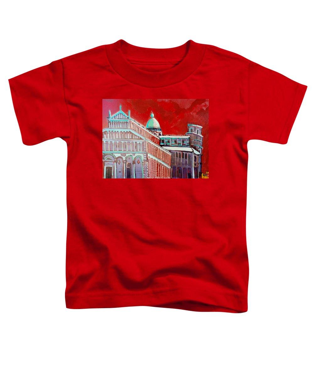 Pisa Toddler T-Shirt featuring the painting Pisa by Kurt Hausmann