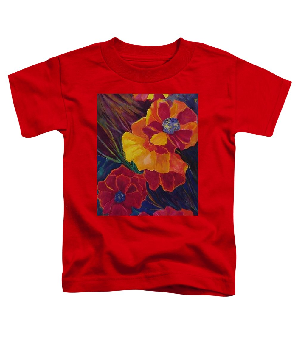 Flowers Toddler T-Shirt featuring the painting Poppies by Carolyn LeGrand