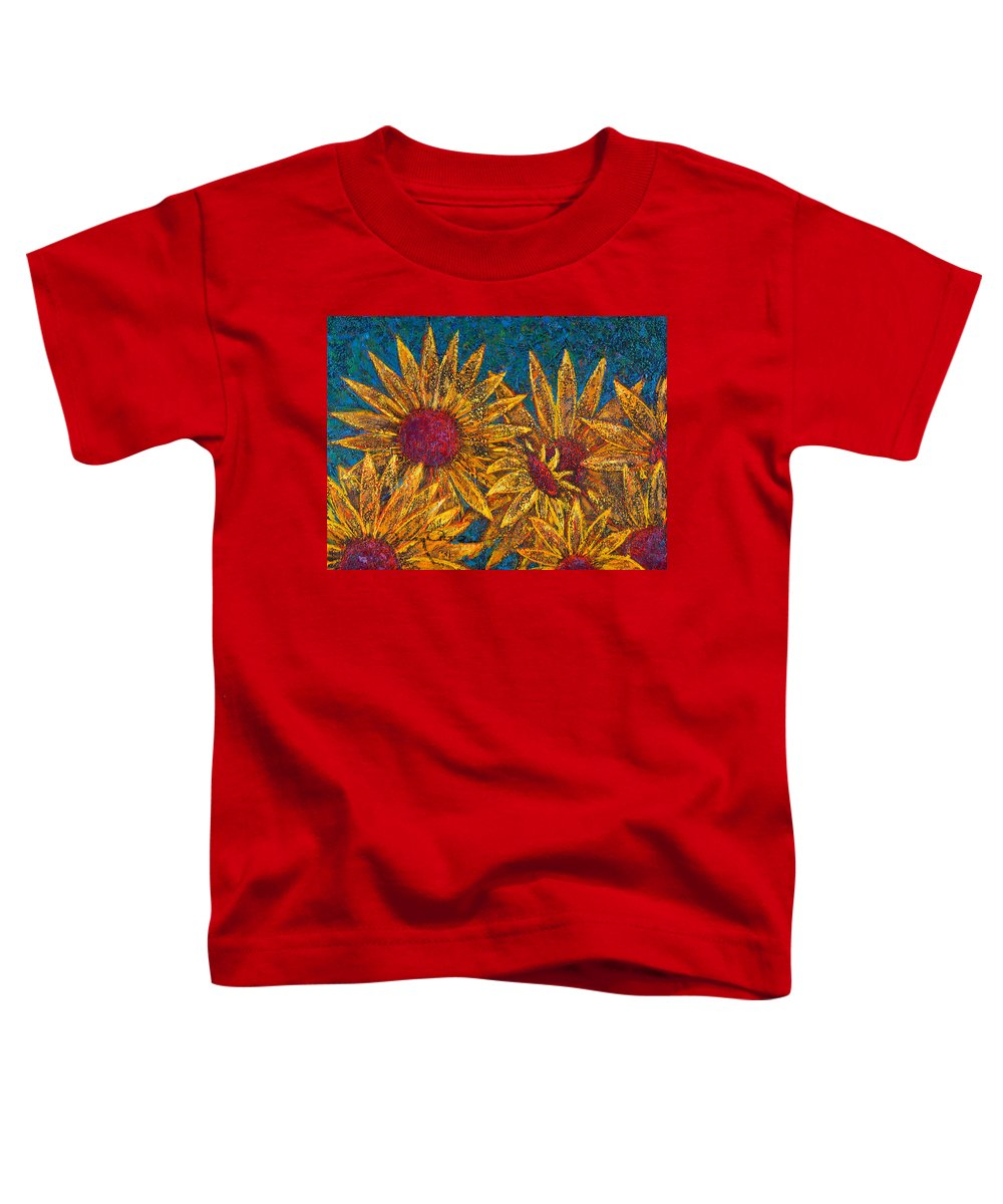 Flowers Toddler T-Shirt featuring the painting Positivity by Oscar Ortiz