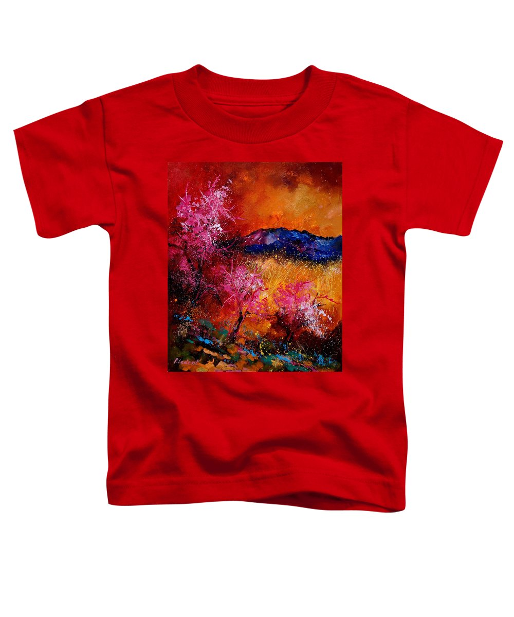 Provence Toddler T-Shirt featuring the painting Provence560908 by Pol Ledent