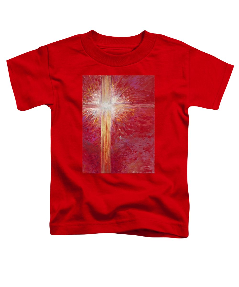 Light Toddler T-Shirt featuring the painting Pure Light by Nadine Rippelmeyer