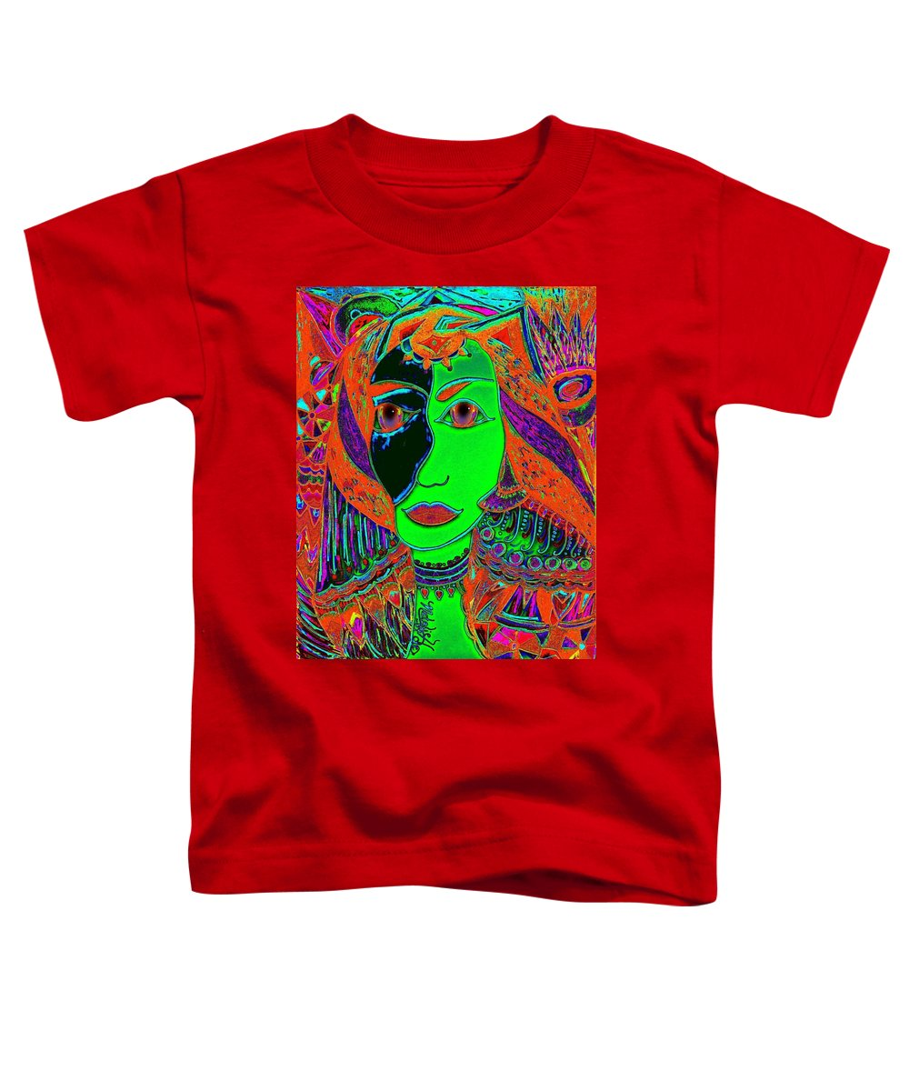 Queen Of The Nile Toddler T-Shirt featuring the painting Queen Of The Nile by Natalie Holland