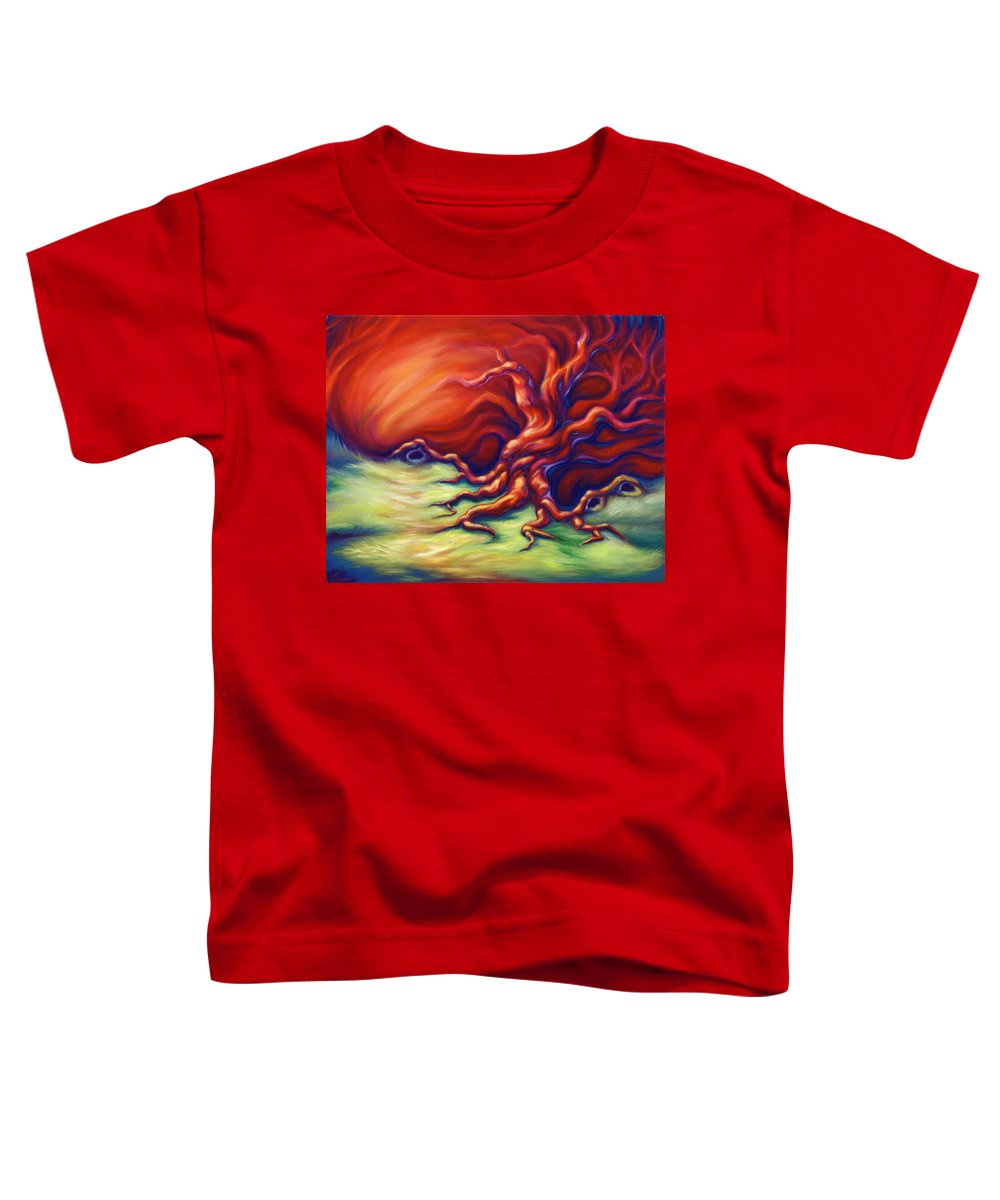 Oil Painting Toddler T-Shirt featuring the painting Quiet Place by Jennifer McDuffie