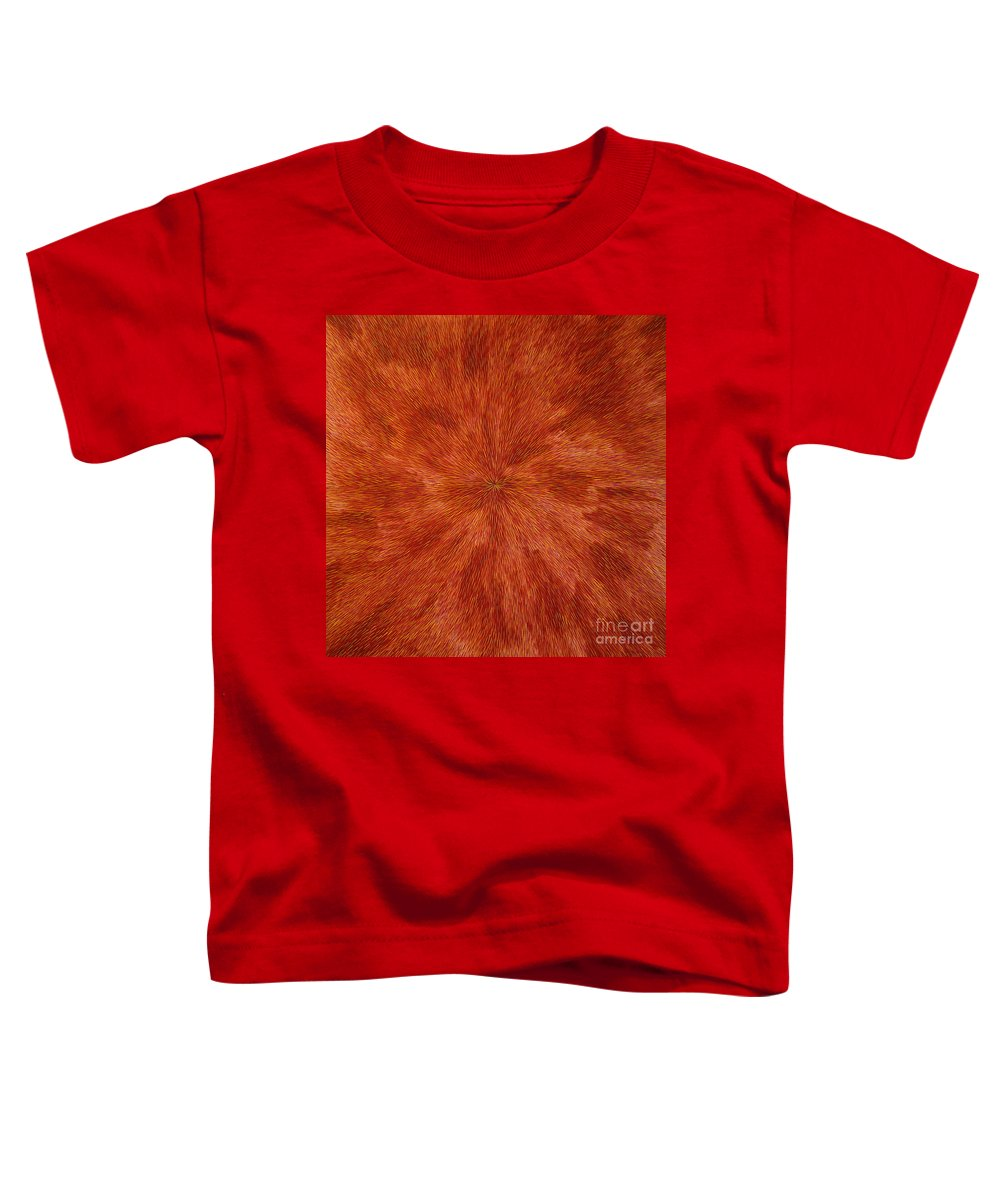 Abstract Toddler T-Shirt featuring the painting Radiation With Brown Yellow And Voilet by Dean Triolo