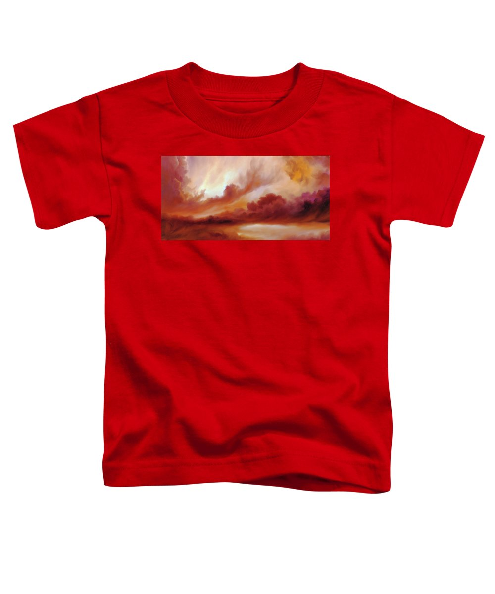 Skyscape Toddler T-Shirt featuring the painting Receding Storm Sketch IIi by James Christopher Hill