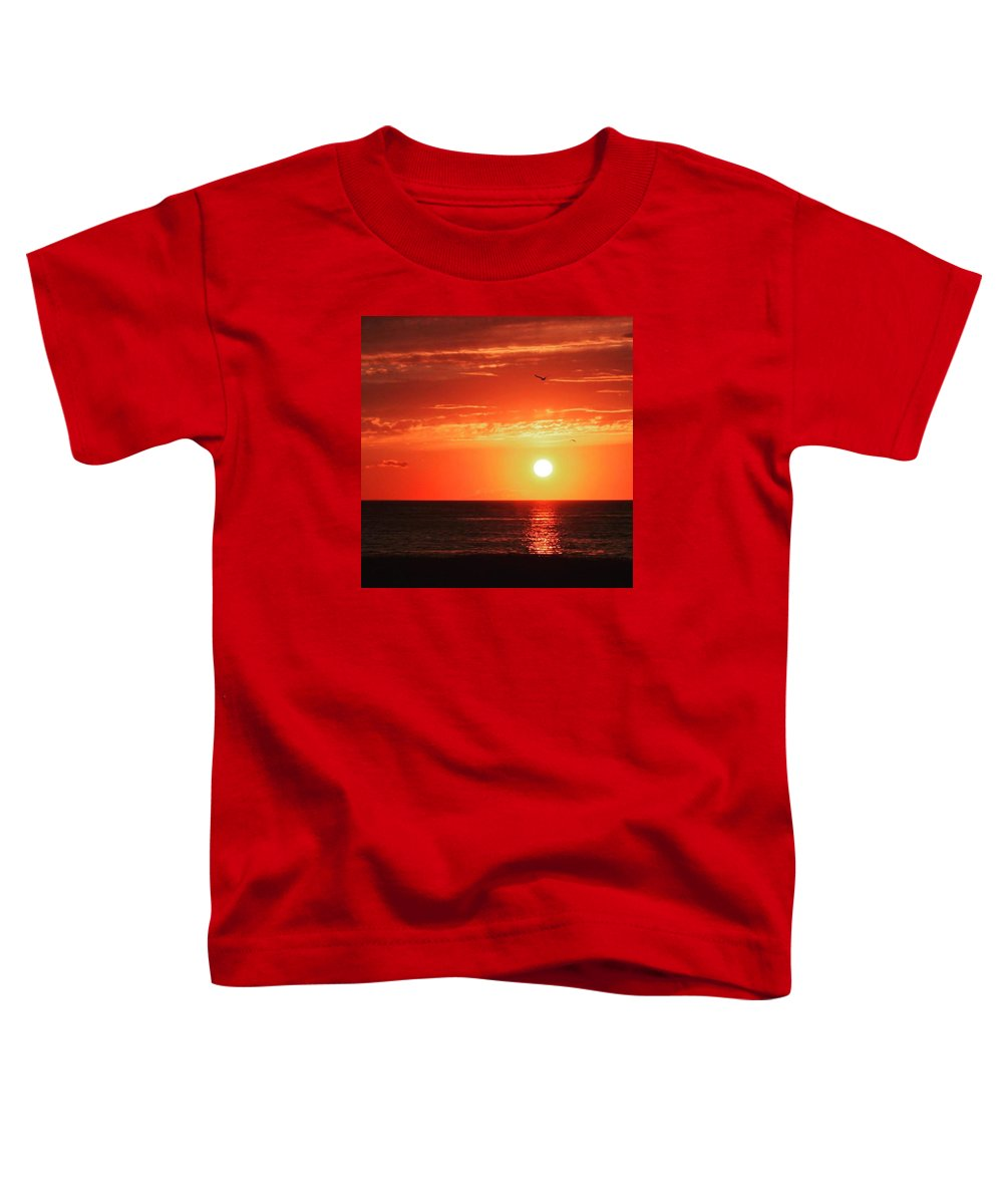 Sun Toddler T-Shirt featuring the photograph Red Skies At Night by Justin Connor