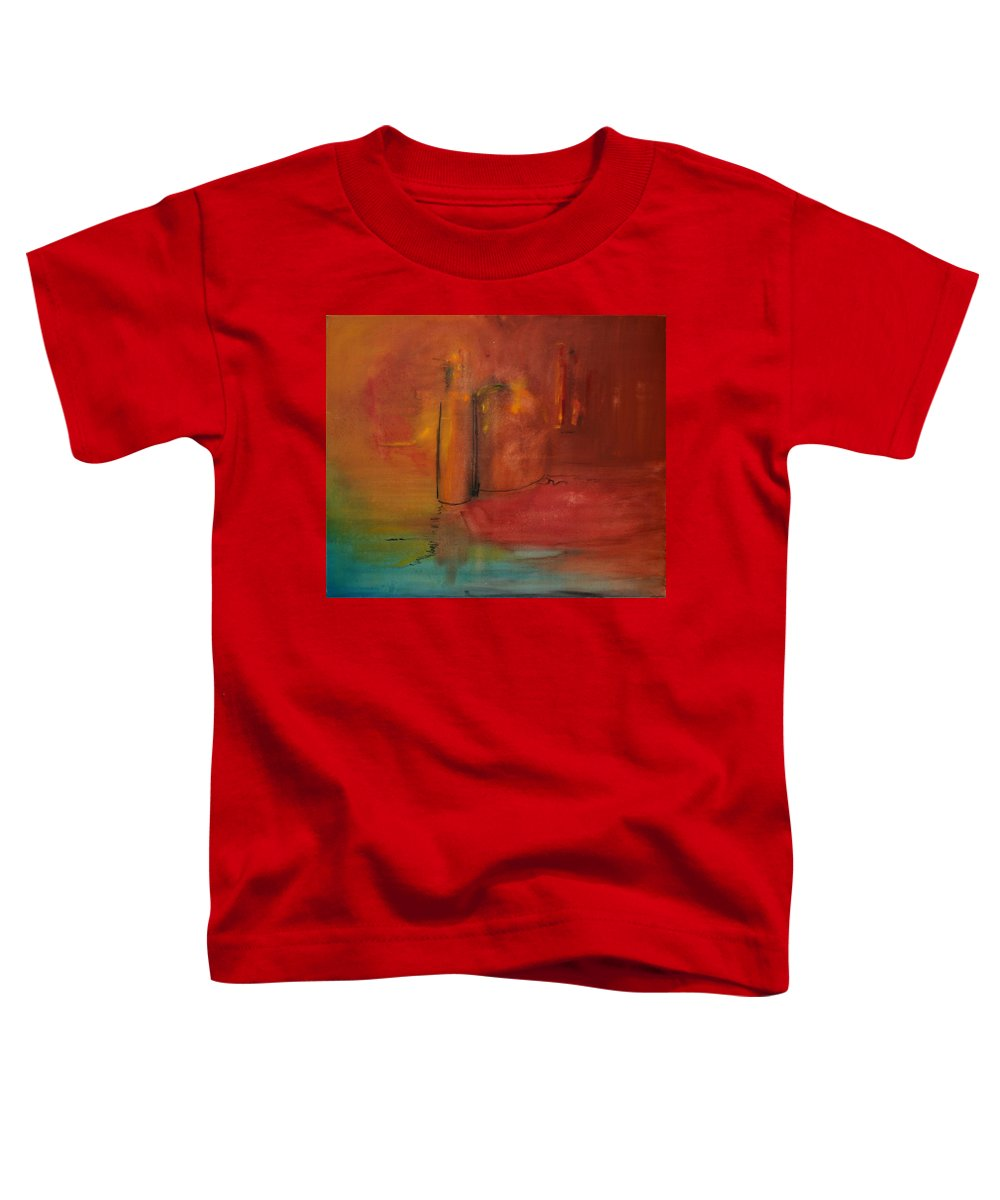 Still Toddler T-Shirt featuring the painting Reflection Of Still Life by Jack Diamond