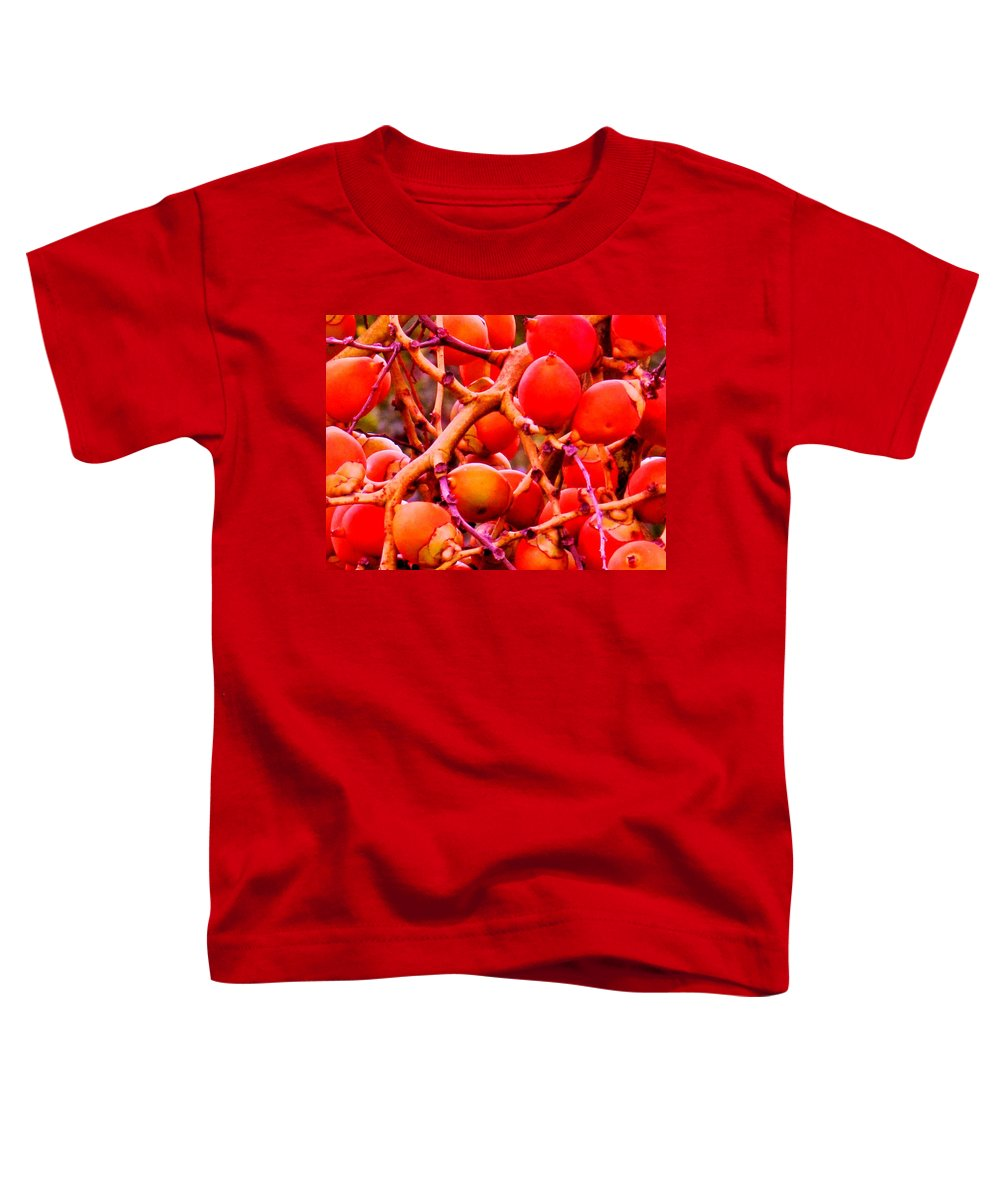Red Toddler T-Shirt featuring the photograph Romney Red by Ian MacDonald