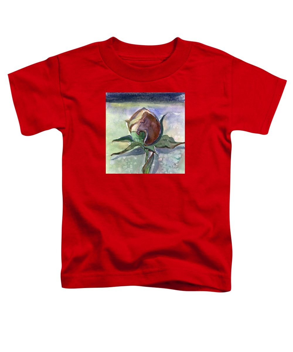 Rose Toddler T-Shirt featuring the painting Rose In The Snow by Mindy Newman