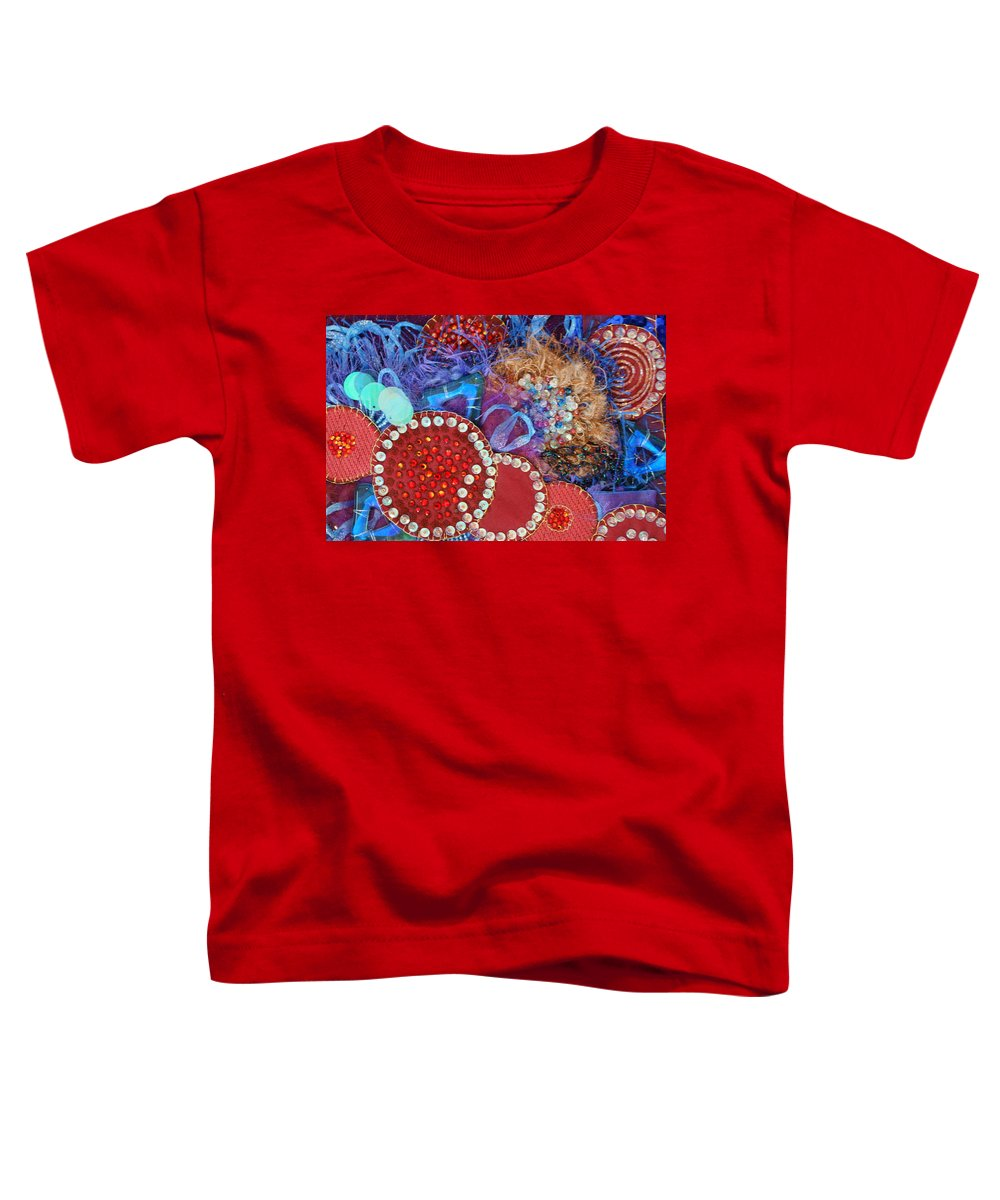 Toddler T-Shirt featuring the mixed media Ruby Slippers 3 by Judy Henninger