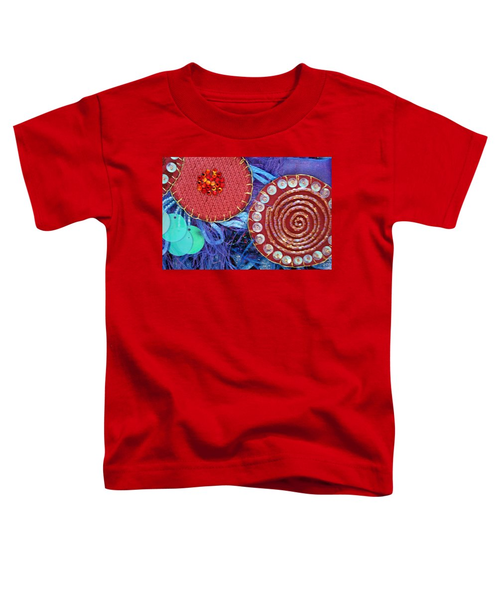 Toddler T-Shirt featuring the mixed media Ruby Slippers 5 by Judy Henninger
