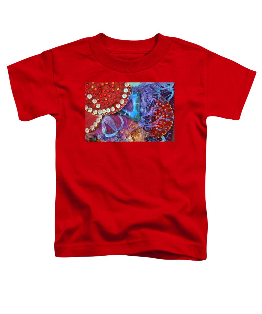 Toddler T-Shirt featuring the mixed media Ruby Slippers 7 by Judy Henninger