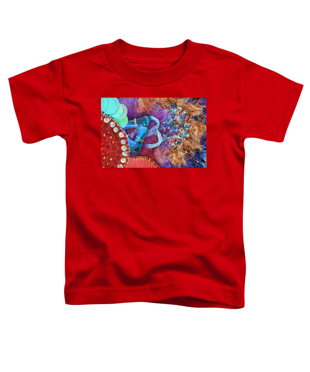 Toddler T-Shirt featuring the mixed media Ruby Slippers 8 by Judy Henninger