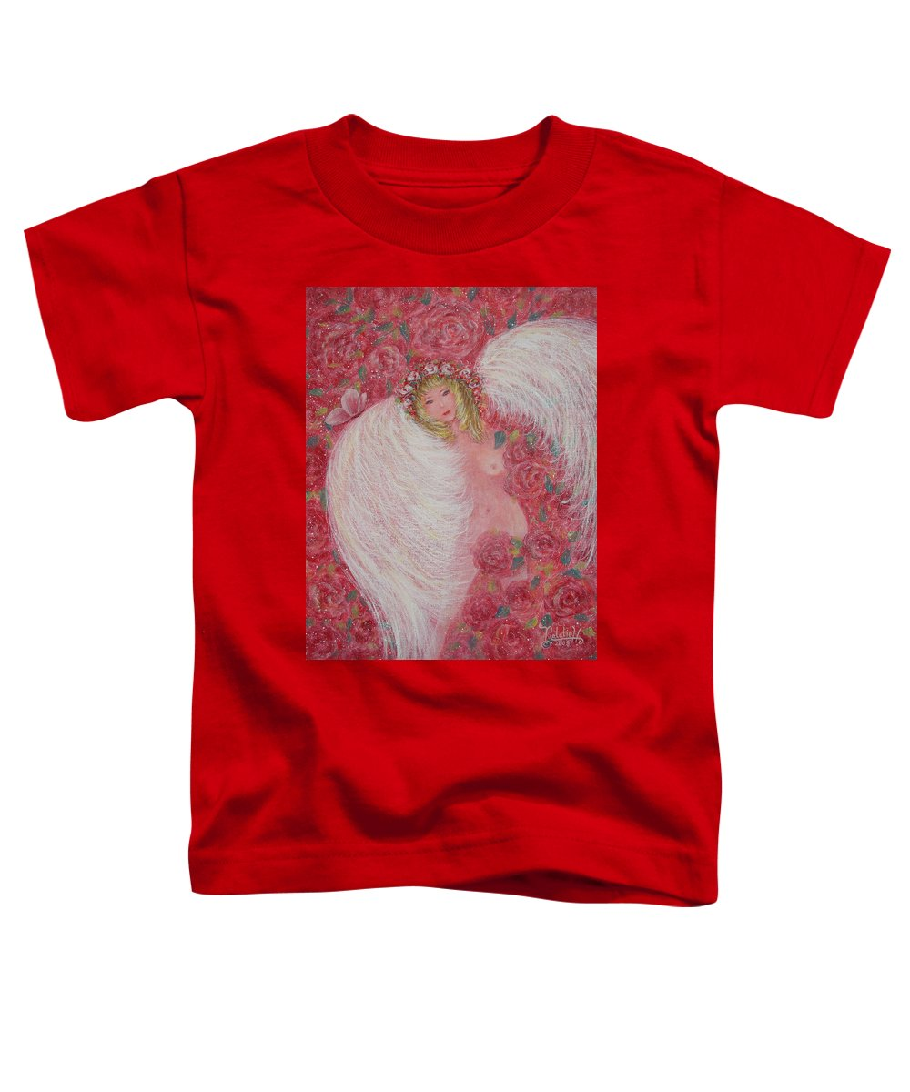 Angel Toddler T-Shirt featuring the painting Secret Garden Angel 6 by Natalie Holland