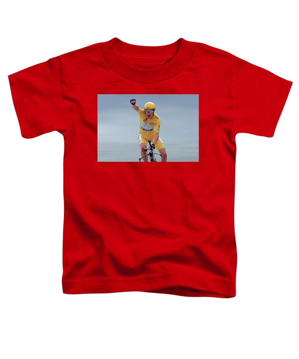Bradley Wiggins Toddler T-Shirt featuring the photograph Sir Bradley Wiggins 1 by Smart Aviation