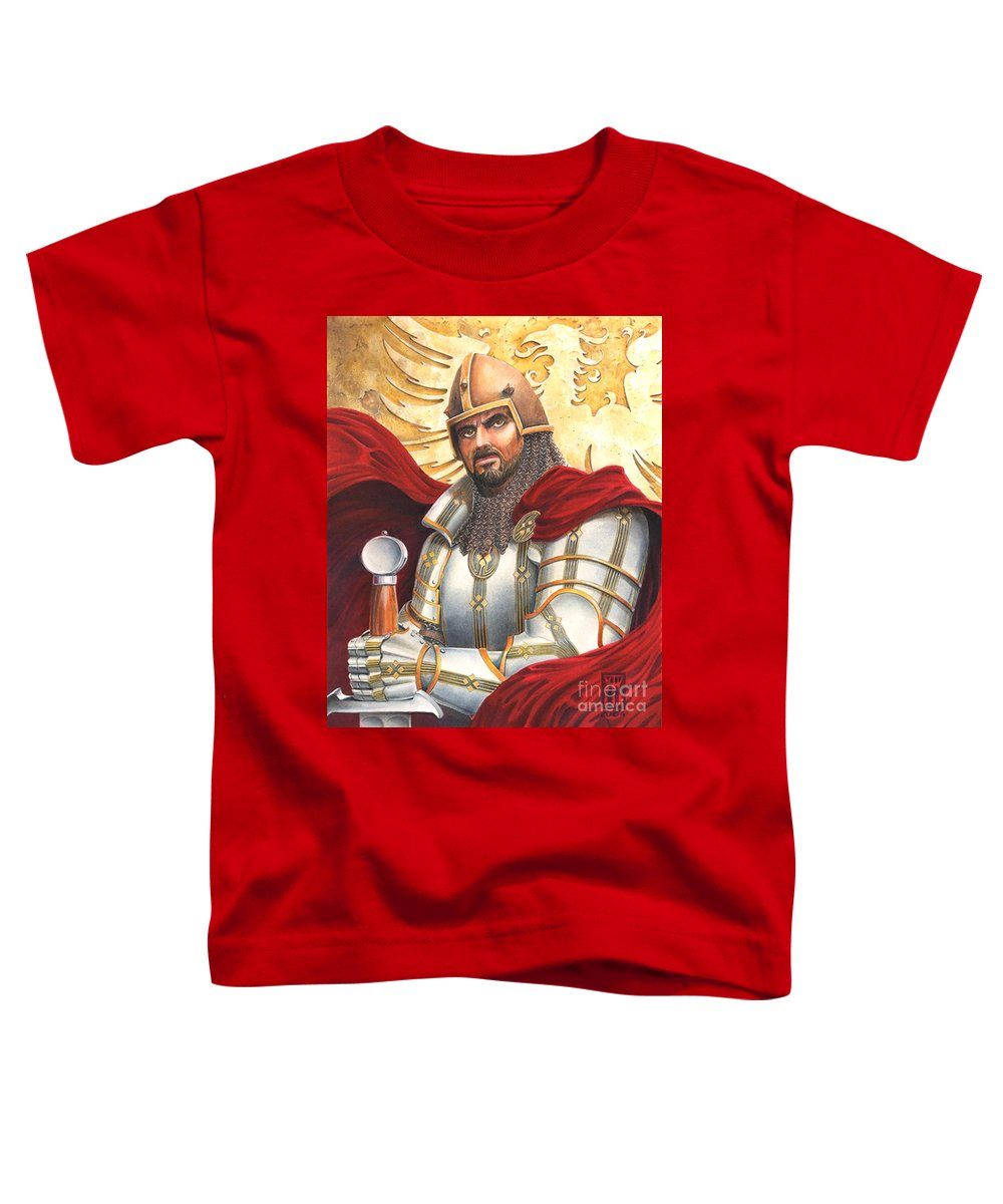 Swords Toddler T-Shirt featuring the drawing Sir Gawain by Melissa A Benson