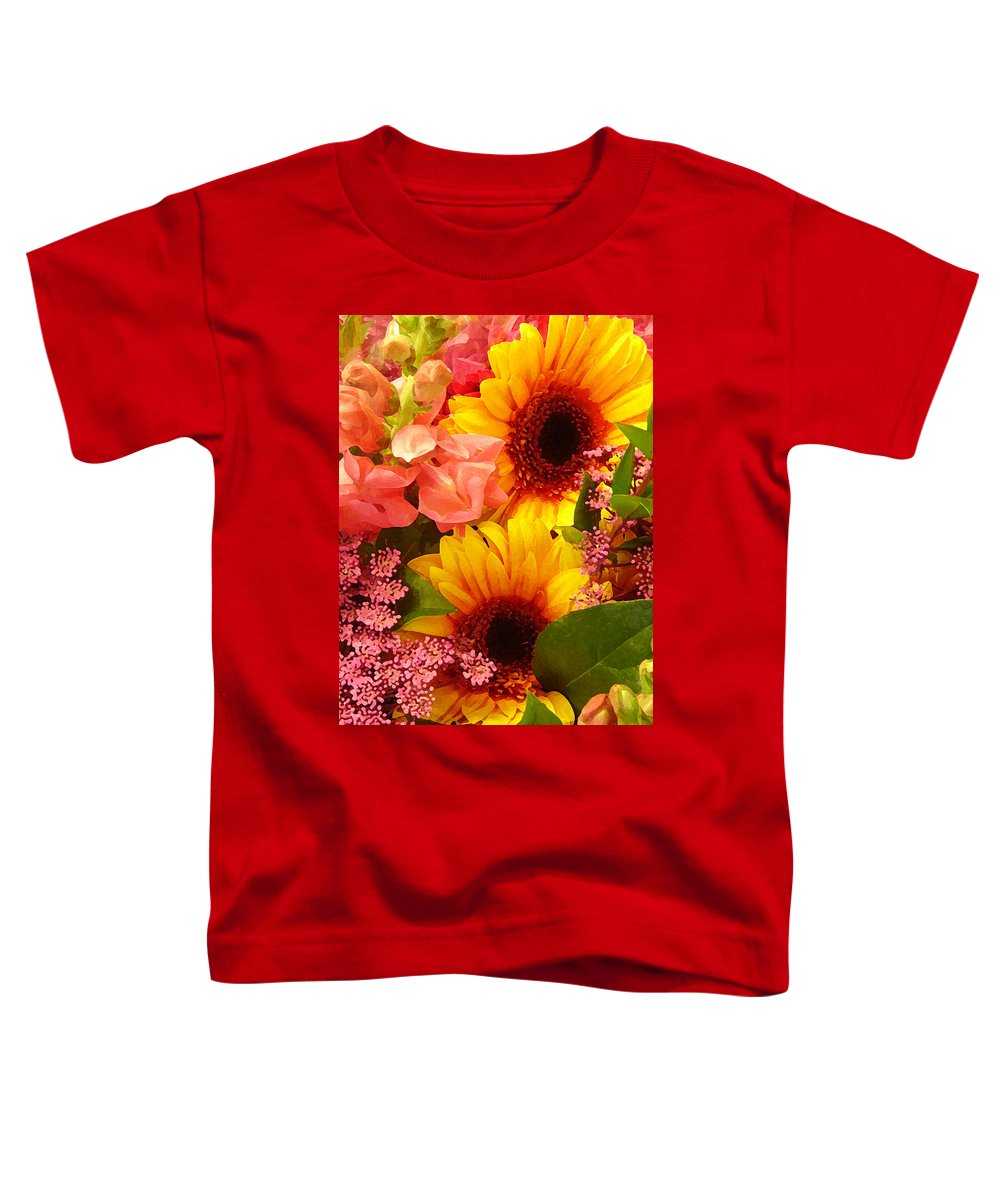 Roses Toddler T-Shirt featuring the photograph Spring Bouquet 1 by Amy Vangsgard
