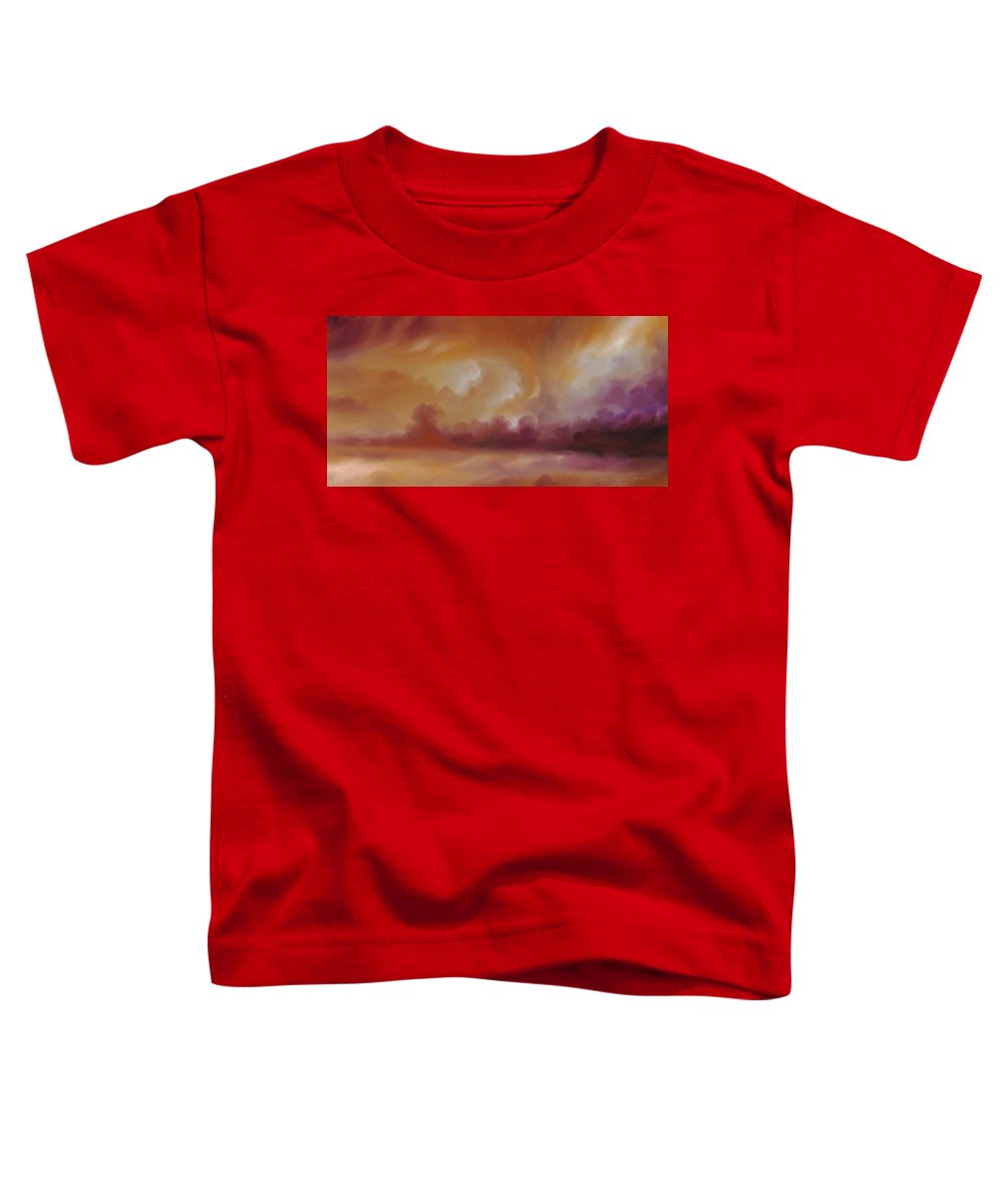 Tempest Toddler T-Shirt featuring the painting Storm Clouds 2 by James Christopher Hill