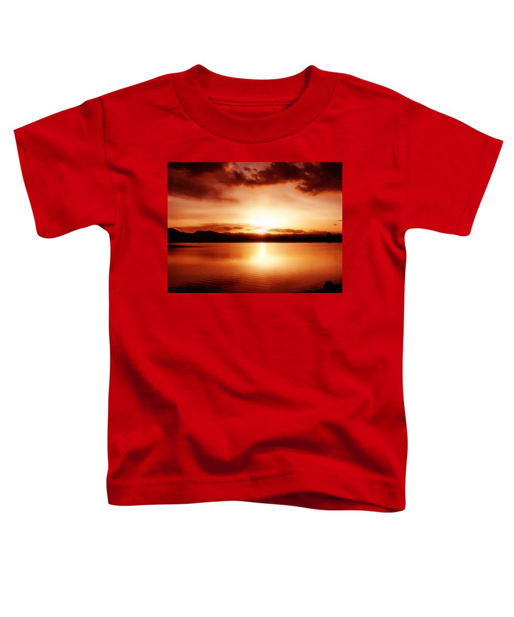 Lake Toddler T-Shirt featuring the photograph Sunset by Marilyn Hunt