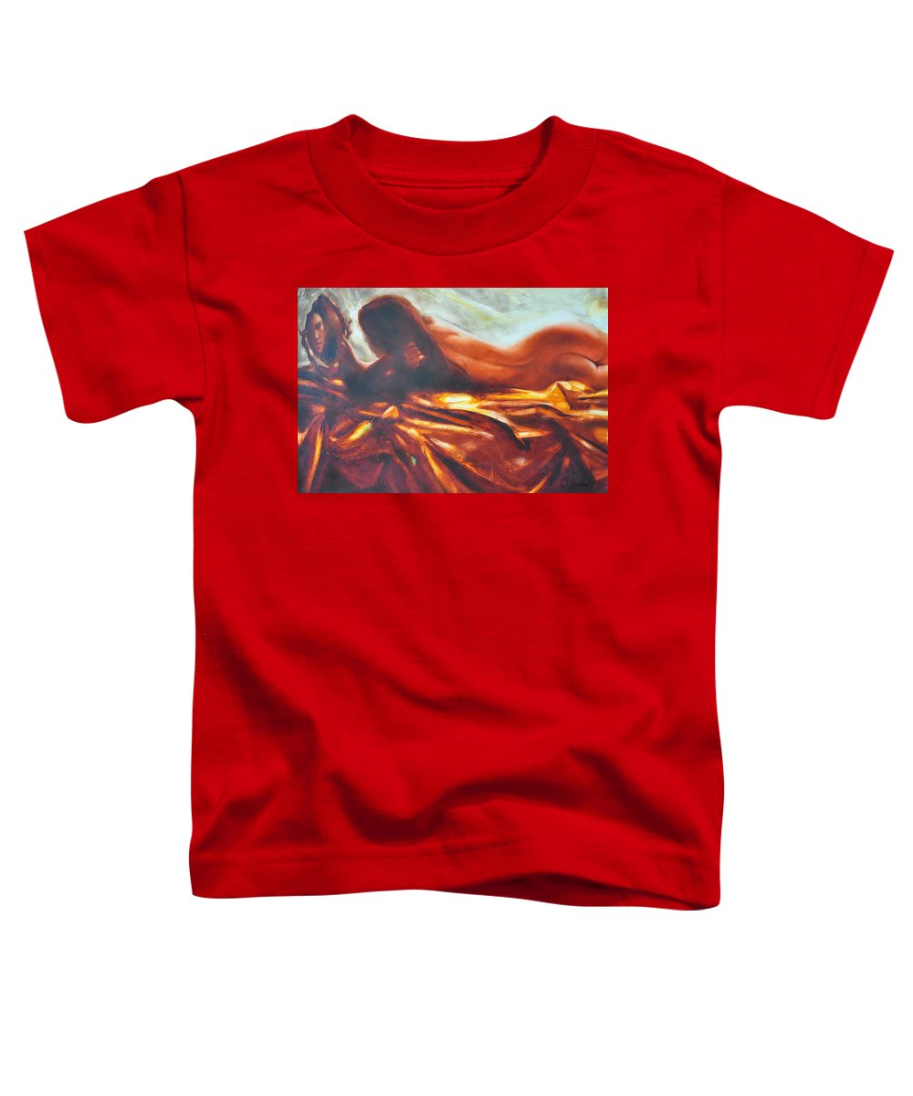 Painting Toddler T-Shirt featuring the painting The Amber Speck Of Light by Sergey Ignatenko
