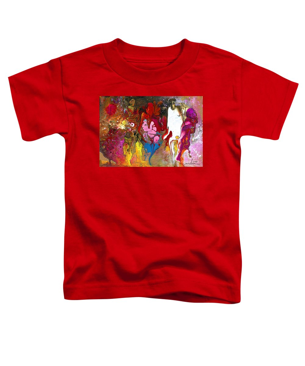 Miki Toddler T-Shirt featuring the painting The First Wedding by Miki De Goodaboom