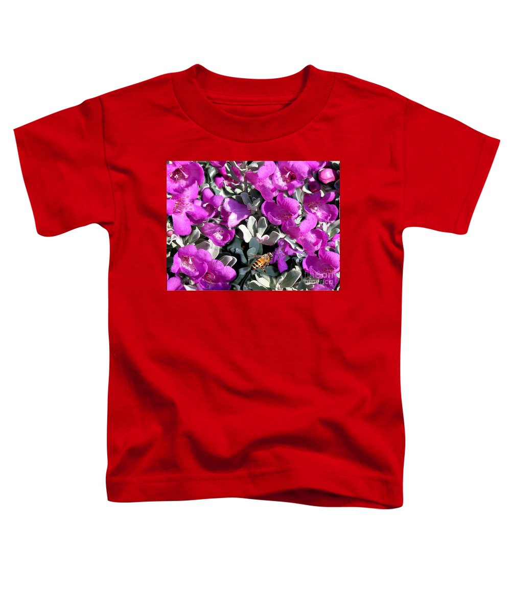 Nature Toddler T-Shirt featuring the photograph The Flight Of The Bumble Bee by Lucyna A M Green