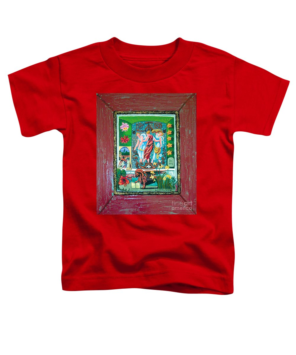 Women Toddler T-Shirt featuring the painting The Three Sisters by Genevieve Esson