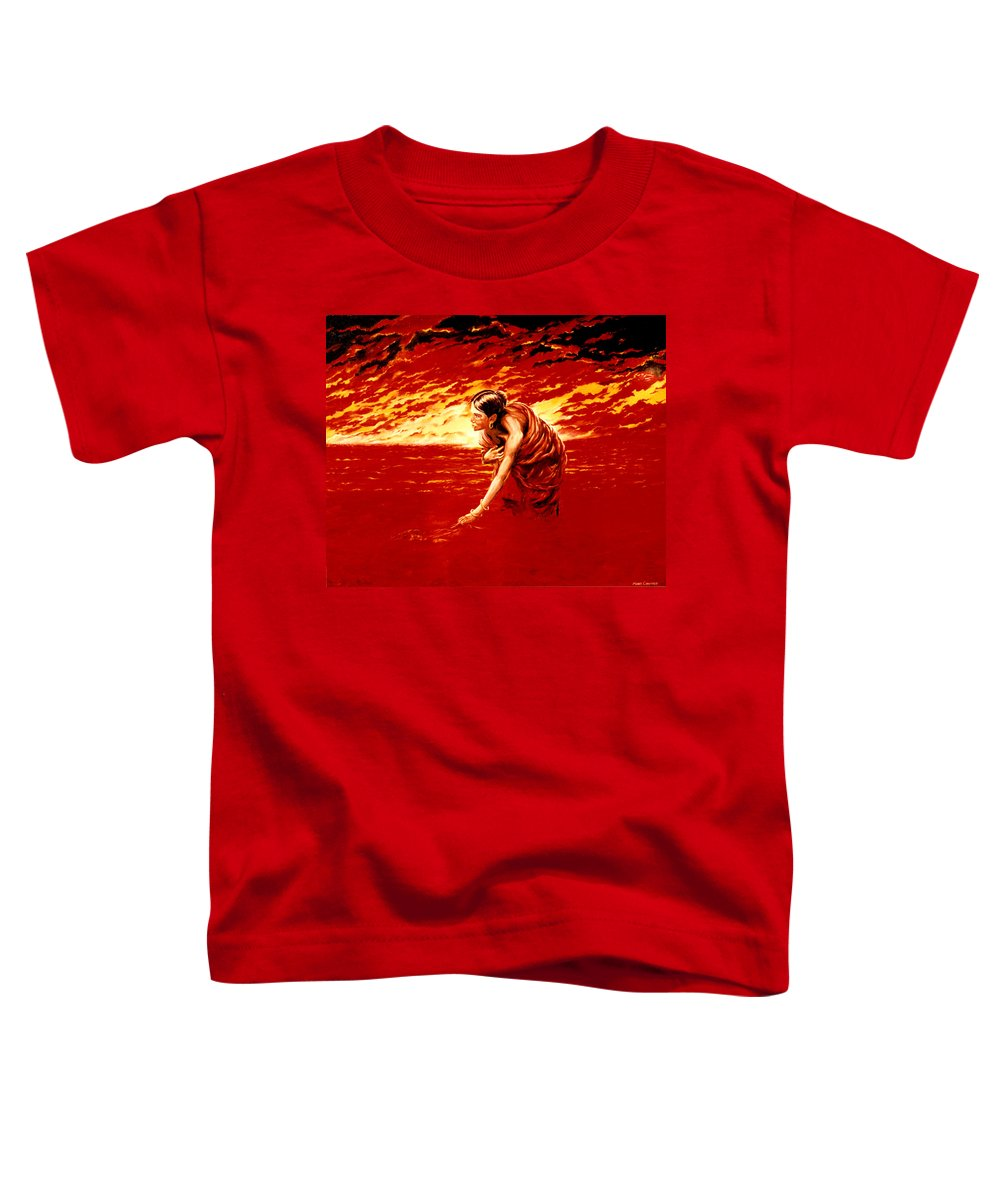 Seascape Toddler T-Shirt featuring the painting Tsunami by Mark Cawood