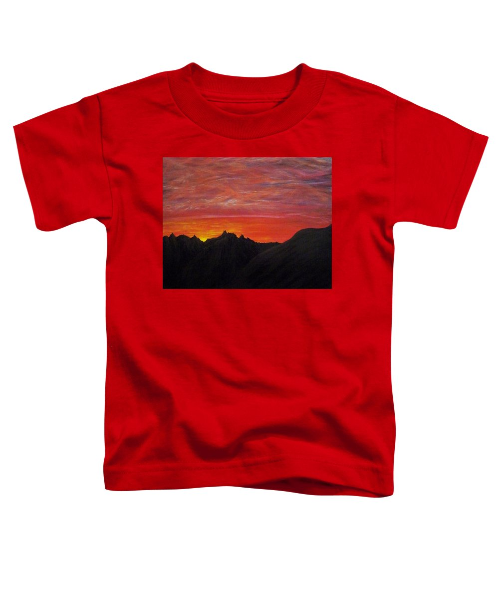 Sunset Toddler T-Shirt featuring the painting Utah Sunset by Michael Cuozzo