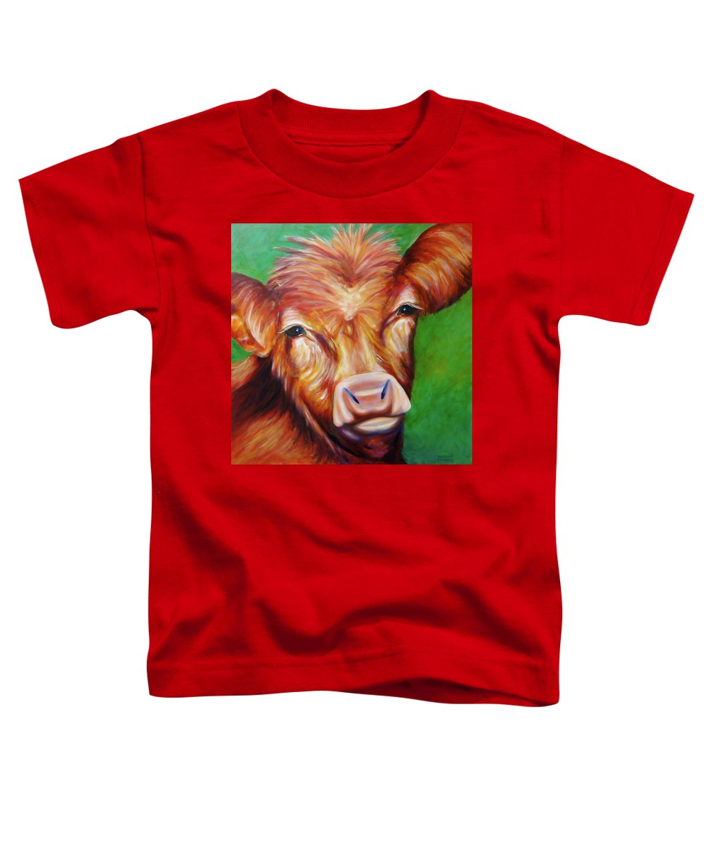 Bull Toddler T-Shirt featuring the painting Van by Shannon Grissom