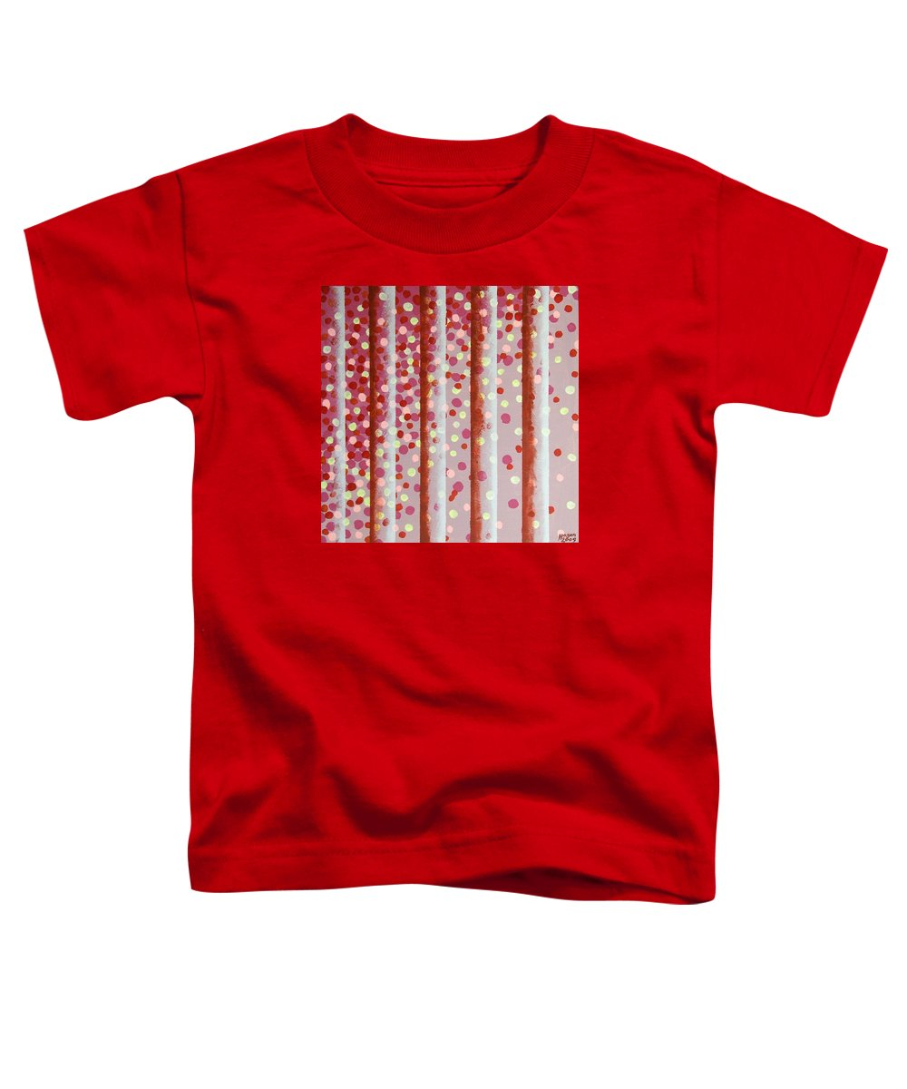 Vertical Bars Toddler T-Shirt featuring the painting Vertical Bars by Alan Hogan