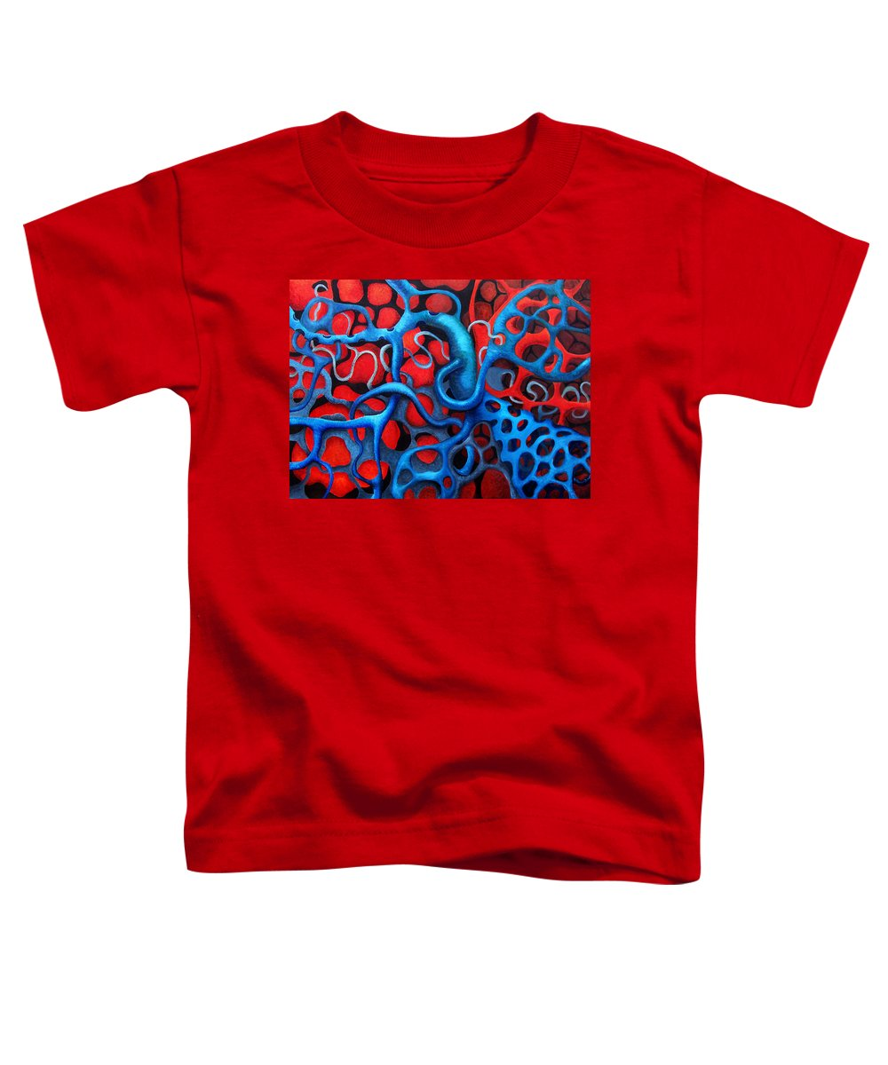 Abstract Toddler T-Shirt featuring the painting Vital Network 2 by Nancy Mueller