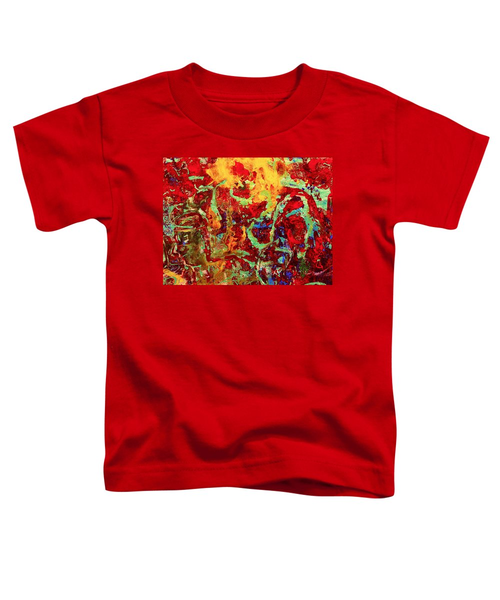 Abstract Toddler T-Shirt featuring the painting Walking In The Garden by Natalie Holland