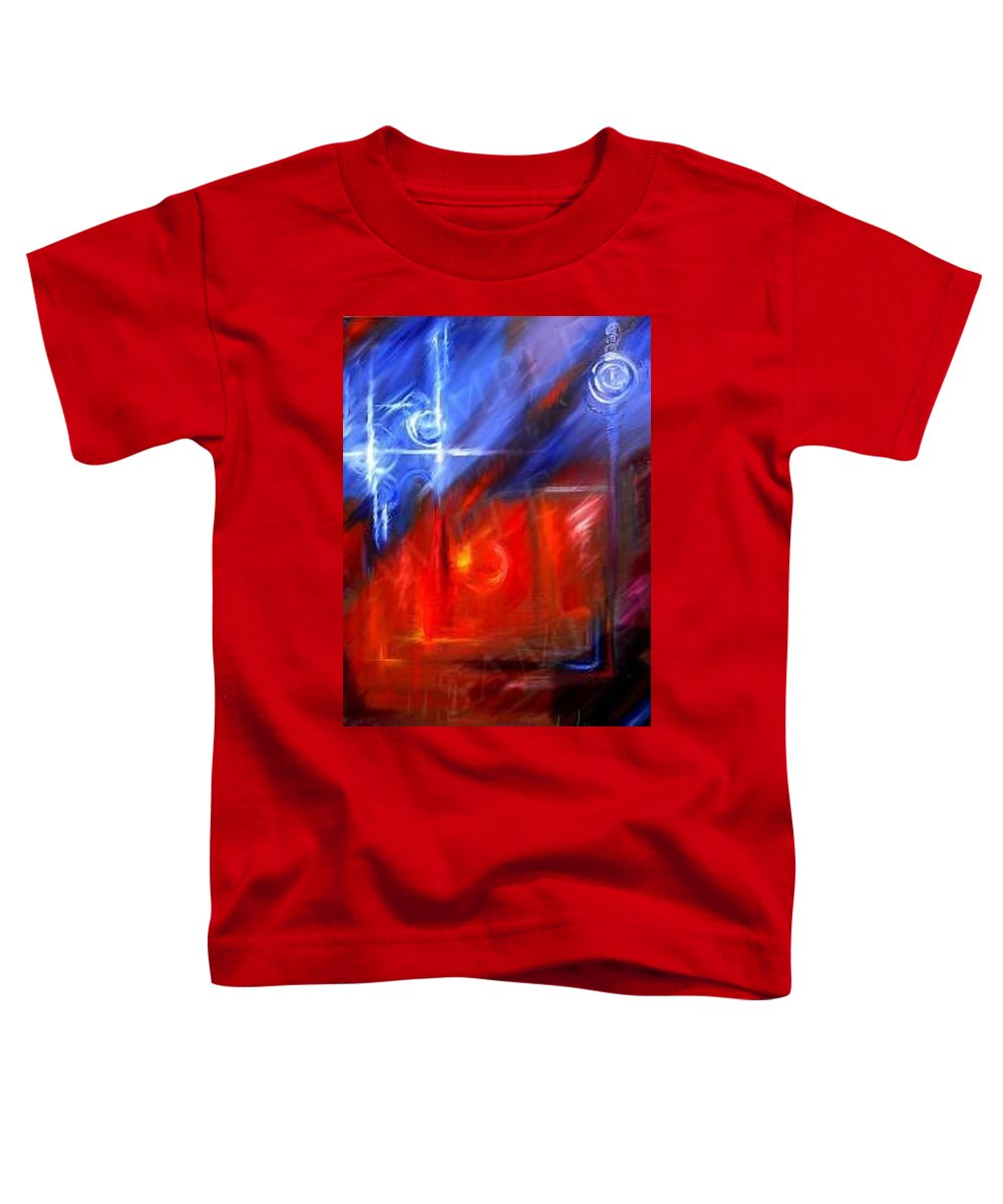 Abstracts Toddler T-Shirt featuring the painting Windows by James Christopher Hill