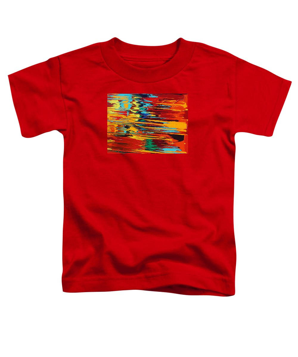 Fusionart Toddler T-Shirt featuring the painting Zap by Ralph White