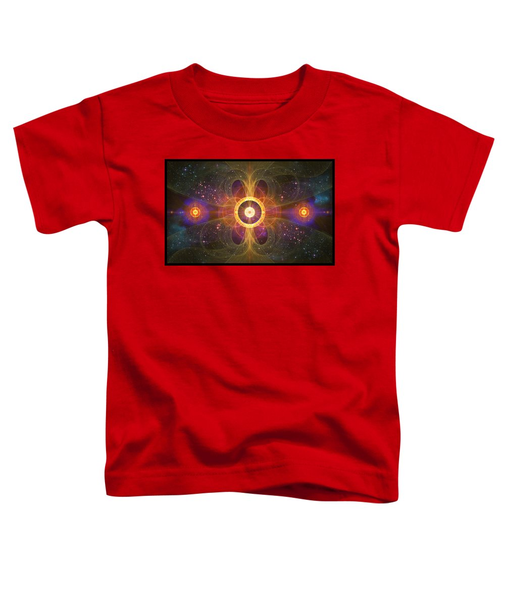 Corporate Toddler T-Shirt featuring the digital art Cosmic White Hole - Star Factory by Shawn Dall