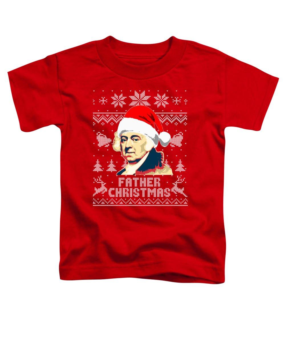 Santa Toddler T-Shirt featuring the digital art John Adams Father Christmas by Filip Hellman