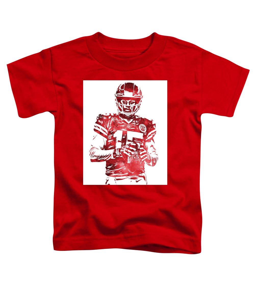 2cb8c5c32c2 Patrick Mahomes Kansas City Chiefs Water Color Pixel Art 10 Toddler T-Shirt  for Sale by Joe Hamilton