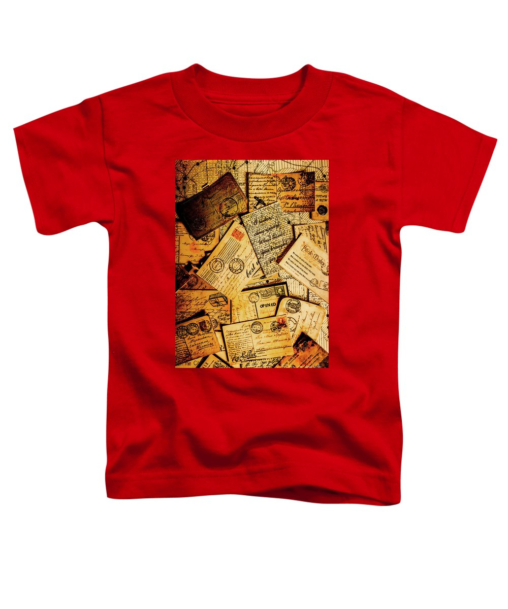 Antique Toddler T-Shirt featuring the photograph Sentimental Writings by Jorgo Photography - Wall Art Gallery