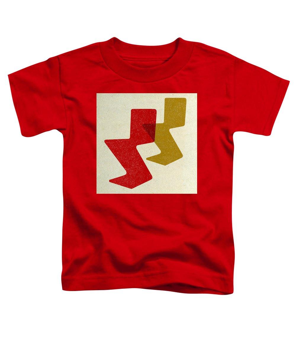 Mid-century Toddler T-Shirt featuring the digital art Zig Zag Chairs I by Naxart Studio