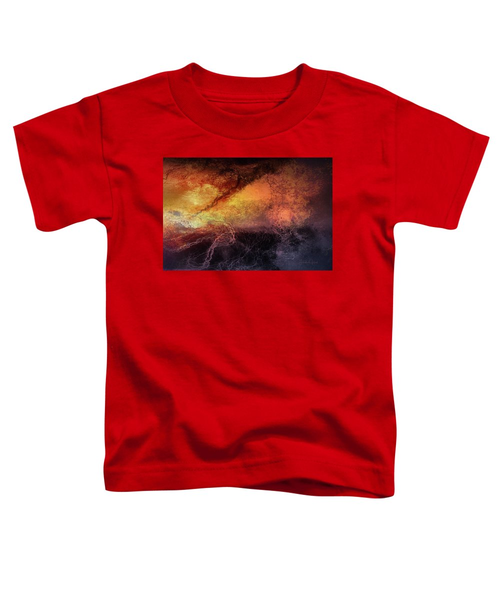 Digital Toddler T-Shirt featuring the digital art Tempest by Linda Lee Hall