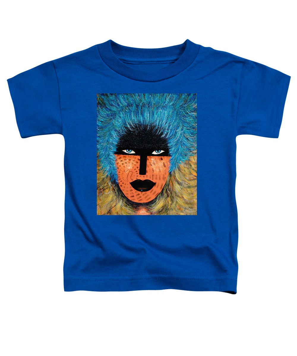 Woman Toddler T-Shirt featuring the painting Viva Niva by Natalie Holland