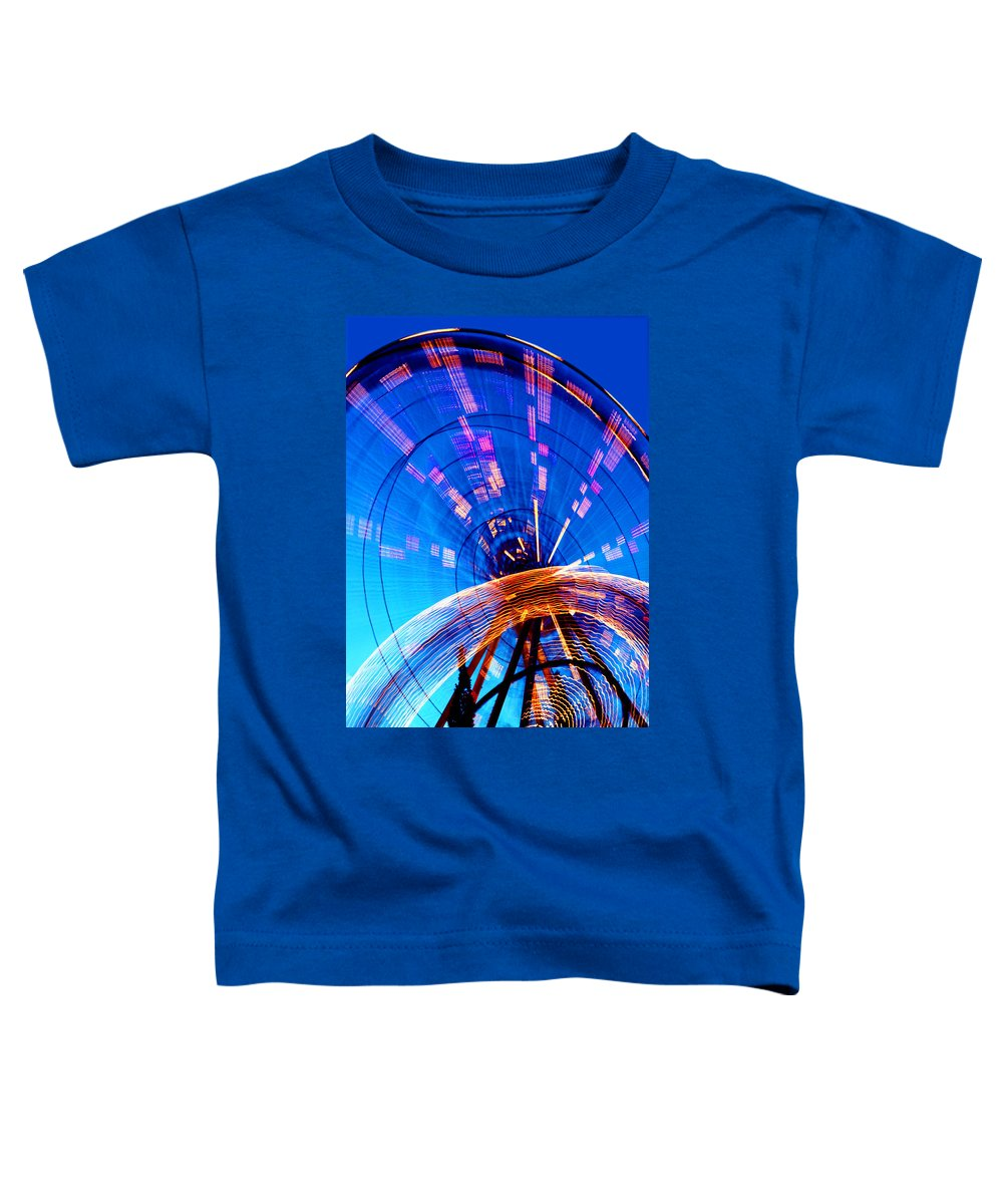 Amusement Park Toddler T-Shirt featuring the photograph Amusement Park Rides 1 by Steve Ohlsen