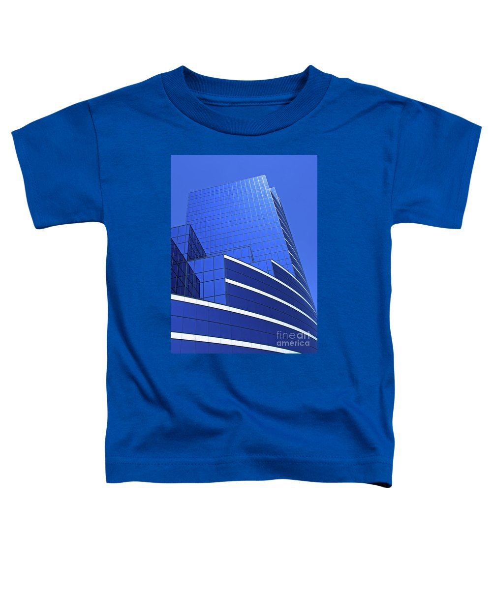 Architecture Toddler T-Shirt featuring the photograph Architectural Blues by Ann Horn