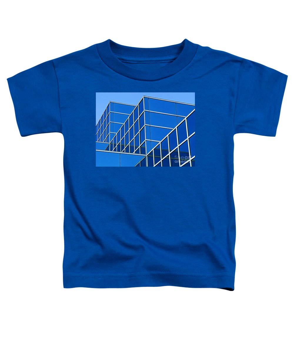 Building Toddler T-Shirt featuring the photograph Boldly Blue by Ann Horn